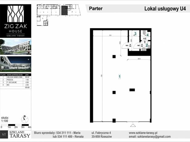 ZIG ZAK HOUSE - Nowoczesne mieszkania w Rzeszowie U4 - lokal pod wynajem  ZIG ZAK HOUSE