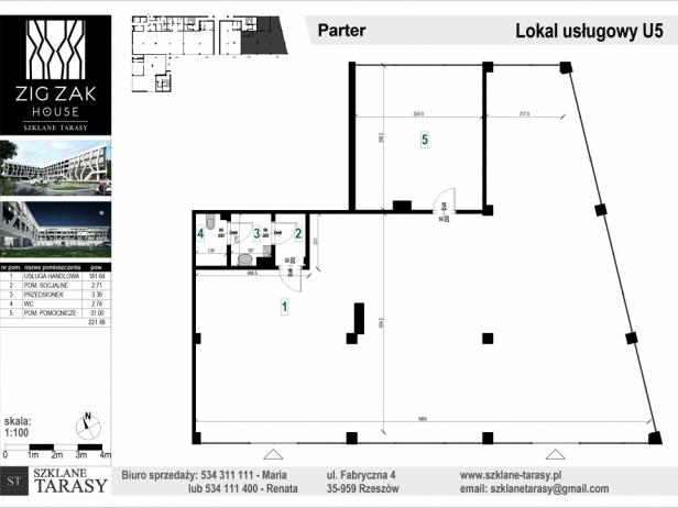 ZIG ZAK HOUSE - Nowoczesne mieszkania w Rzeszowie U5 - lokal pod wynjem ZIG ZAK HOUSE