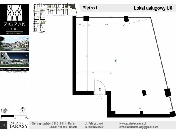 ZIG ZAK HOUSE - Nowoczesne mieszkania w Rzeszowie U6 - lokal pod wynajem  ZIG ZAK HOUSE