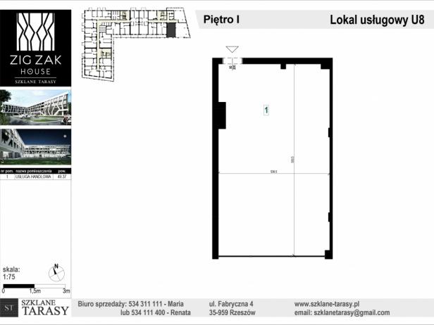 ZIG ZAK HOUSE - Nowoczesne mieszkania w Rzeszowie U8 - lokal pod wynajem  ZIG ZAK HOUSE