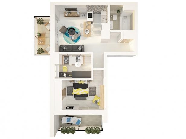 M24 - mieszkanie 3 - pokojowe