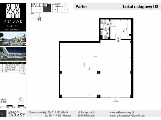 U3 - lokal pod wynajem ZIG ZAK HOUSE
